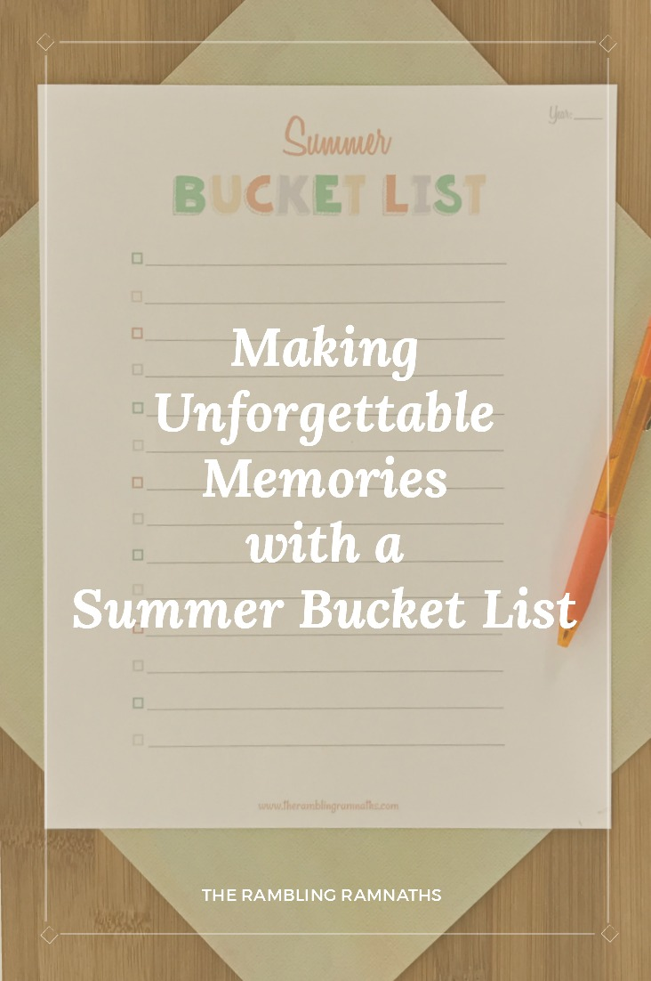 A great way to make memories that your children will remember for life is to create a simple summer bucket list! Here is a printable summer bucket list so you can create your own!