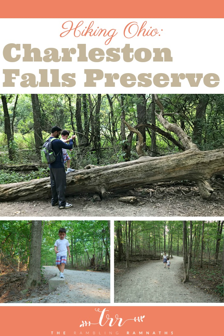 Hiking Ohio: Charleston Falls Preserve in Troy, Ohio. Great place to go hiking as a family, especially if you have children.