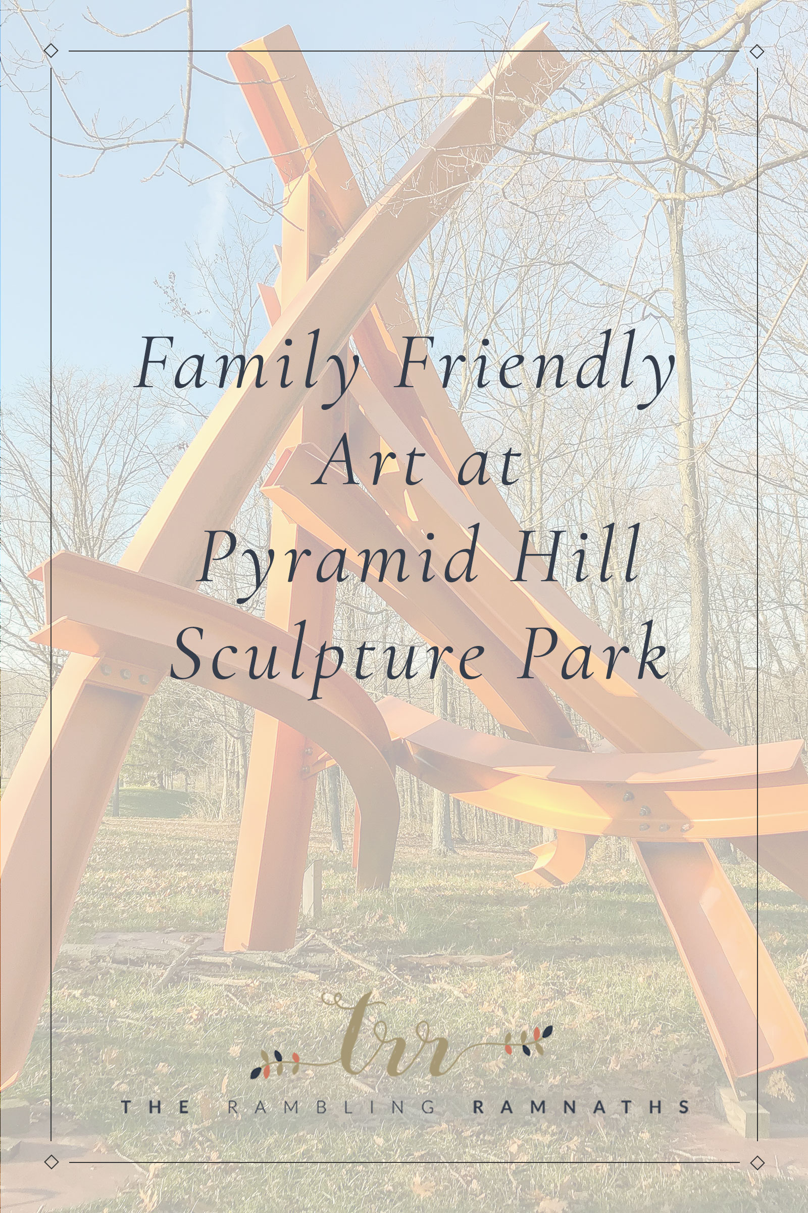 Pyramid Hill Sculpture Park in Hamilton, Ohio is a great place for a family adventure! It is great for introducing your kids to art. Perfect place to spend the day as a family