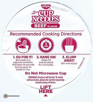 #2383: Nissin Cup Noodles Beef Flavor Ramen Noodle Soup (New Recipe) - The Ramen Rater - USA - instant noodles