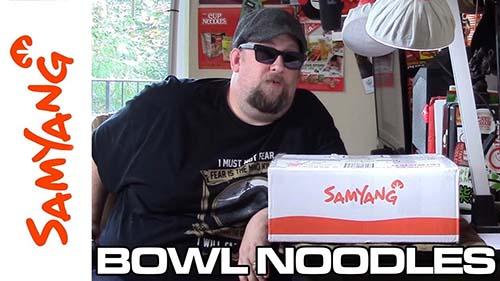 Samyang Bowl Noodles Unboxing - South Korea