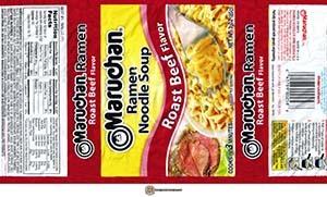 #3182: Maruchan Ramen Noodle Soup Roast Beef Flavor - United States