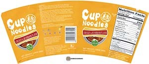 #3250: Jinmailang Cup Noodles Chicken & Mushroom Flavor - United States