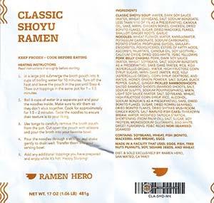 #3255 Ramen Hero Classic Shoyu Ramen - United States