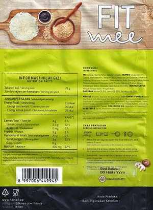 #3268: Fitmee Konjac Fried Korean Noodle - Indonesia
