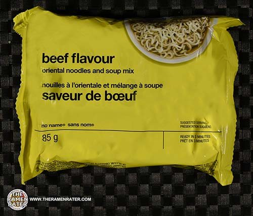 #3349: No Name Beef Flavour Oriental Noodles And Soup Mix - Canada