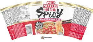 #3796: Nissin Cup Noodles Hot Chili Spicy Roasted Sesame Soup - Hungary