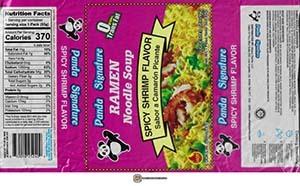 #3831: Panda Signature Ramen Noodle Soup Spicy Shrimp Flavor - United States