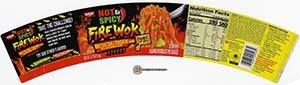 #3643: Nissin Hot & Spicy Fire Wok Molten Chili Chicken Flavor - United States