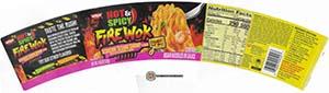 #3839: Nissin Hot & Spicy Fire Wok Scorchin' Sesame Shrimp Flavor - United States