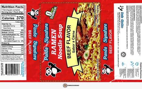 #3868: Panda Signature Ramen Noodle Soup Beef Flavor - United States