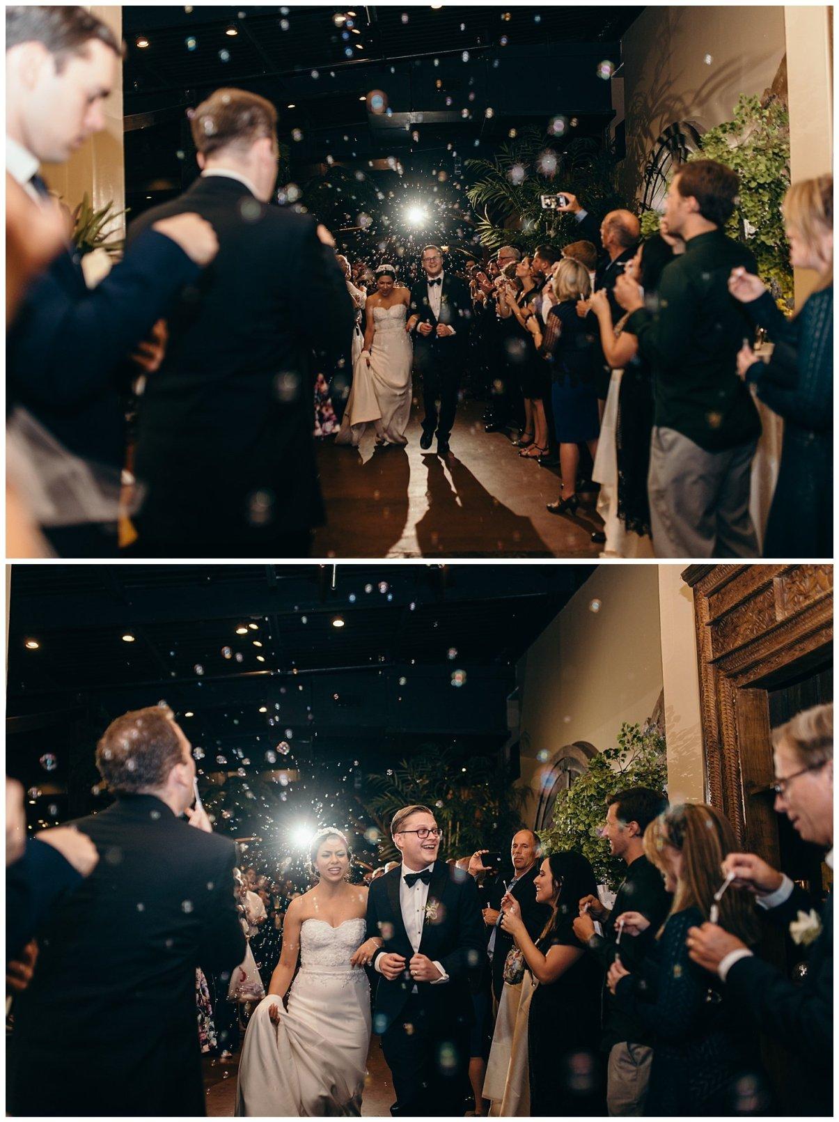 Bubble exit for Agave Estates Wedding