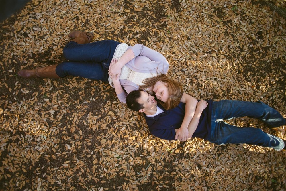 A&M Century tree engagement pictures