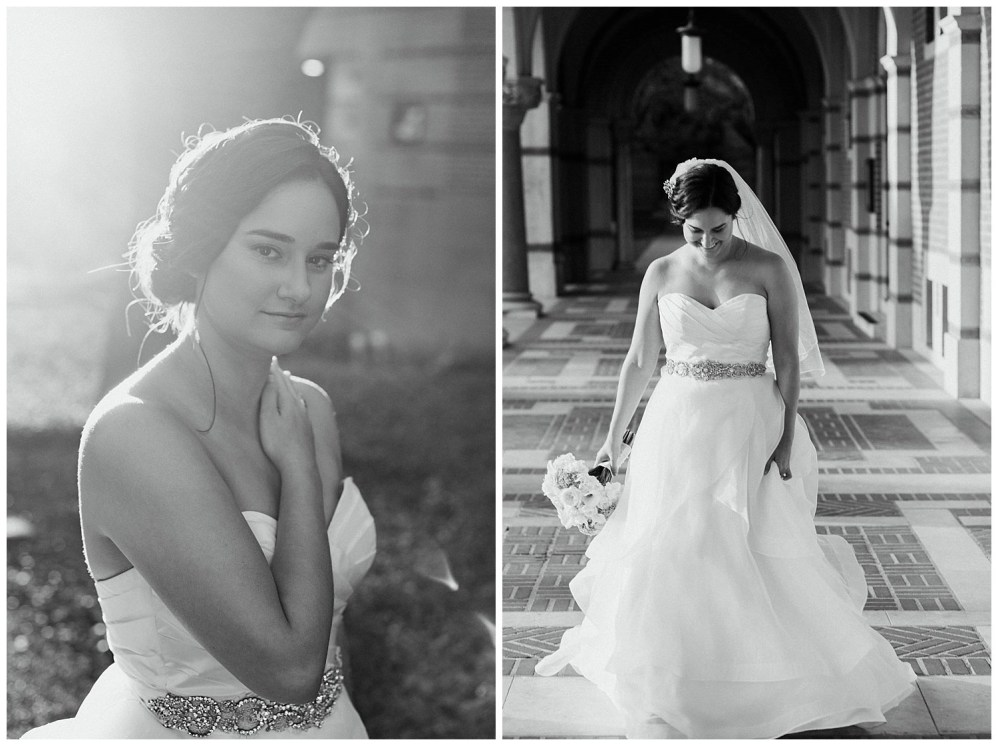 black and white bridal portraits