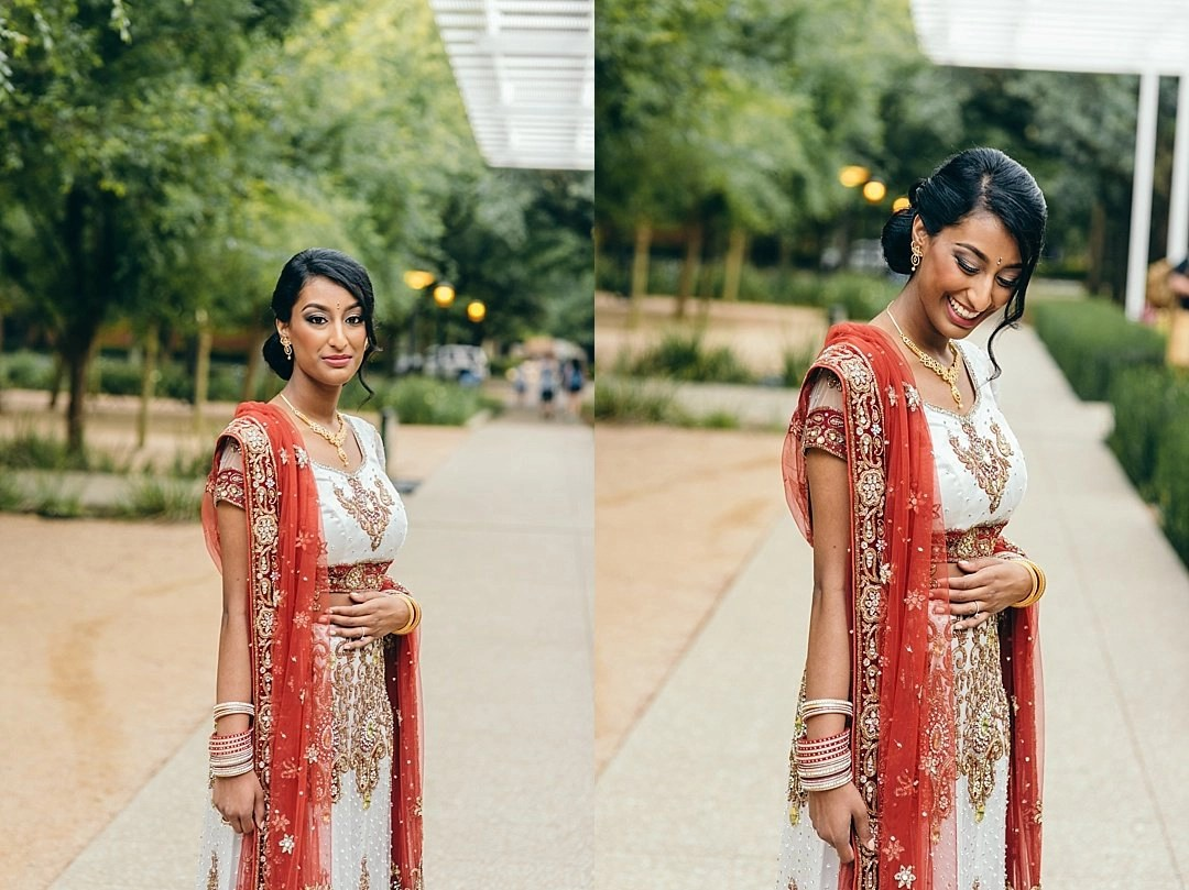 Indian Bridal portrats at Rice University in Houston, TX