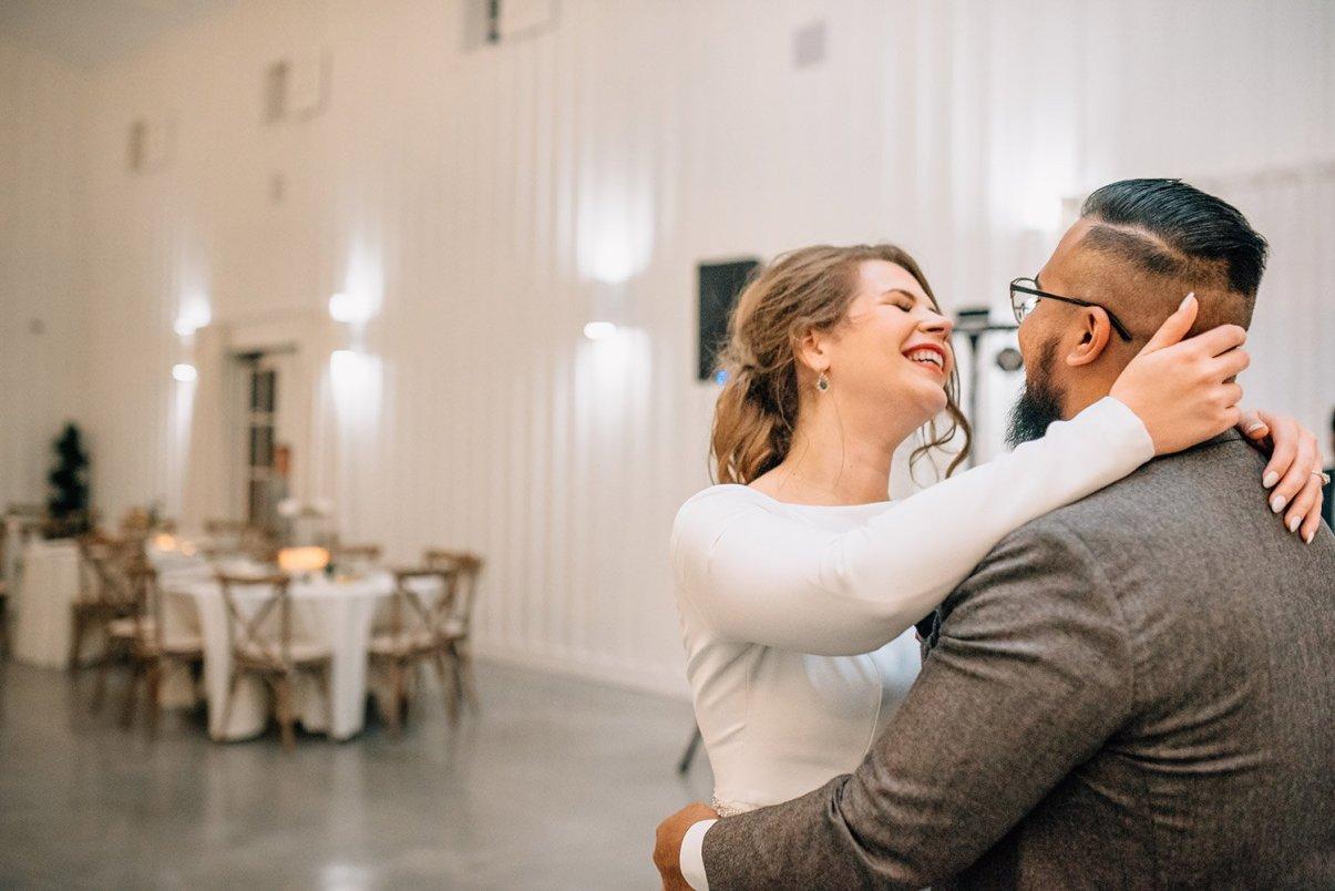 bride and groom last dance