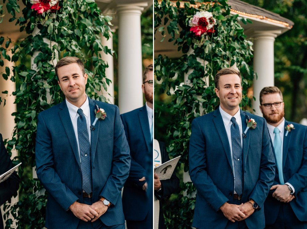 groom sees bride enter