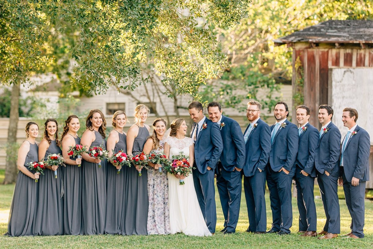 wedding party bridesmaids and groomsmen