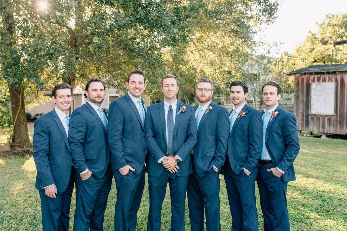 serious groomsmen