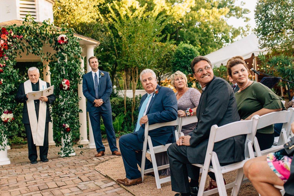 congregation watches bride enter