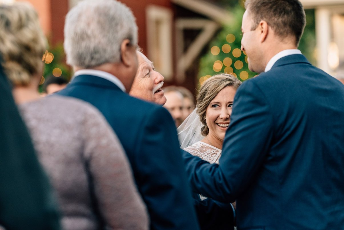 giving daughter away at wedding