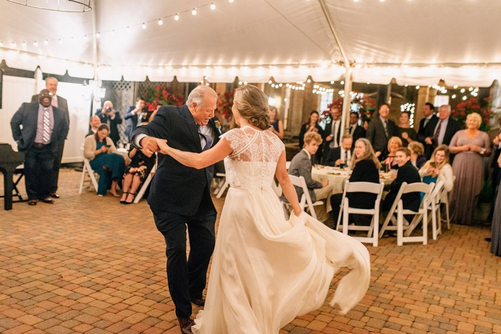 father of the bride having a great time