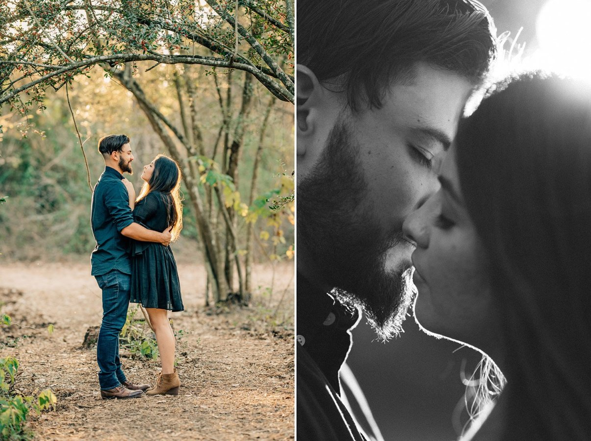 intimate and romantic engagement picture