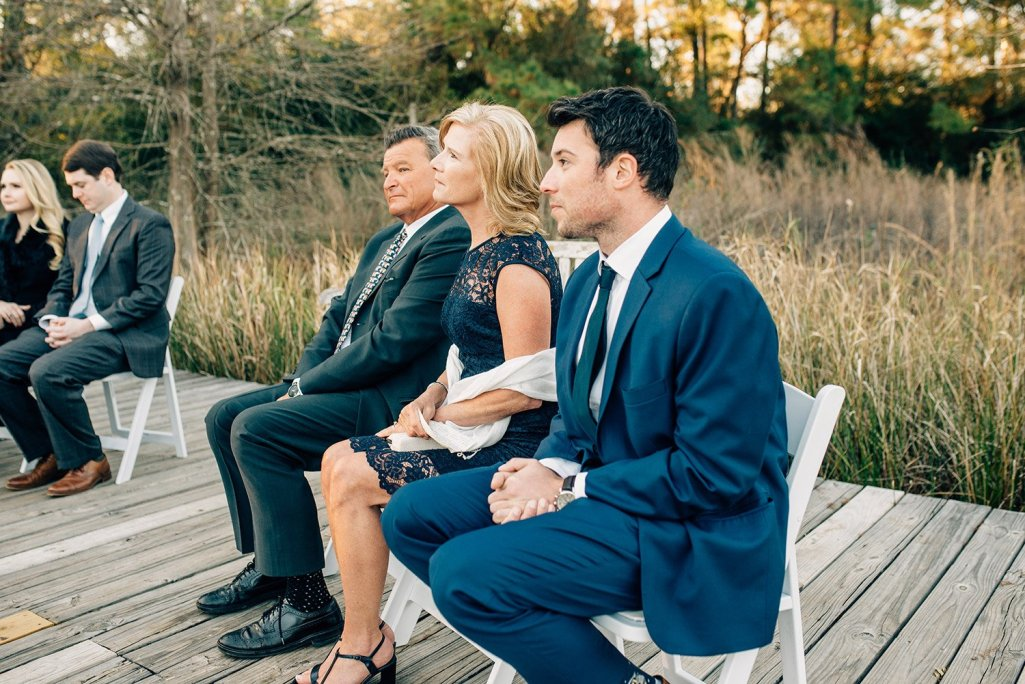 family watching Elopement at the Houston Arboretum