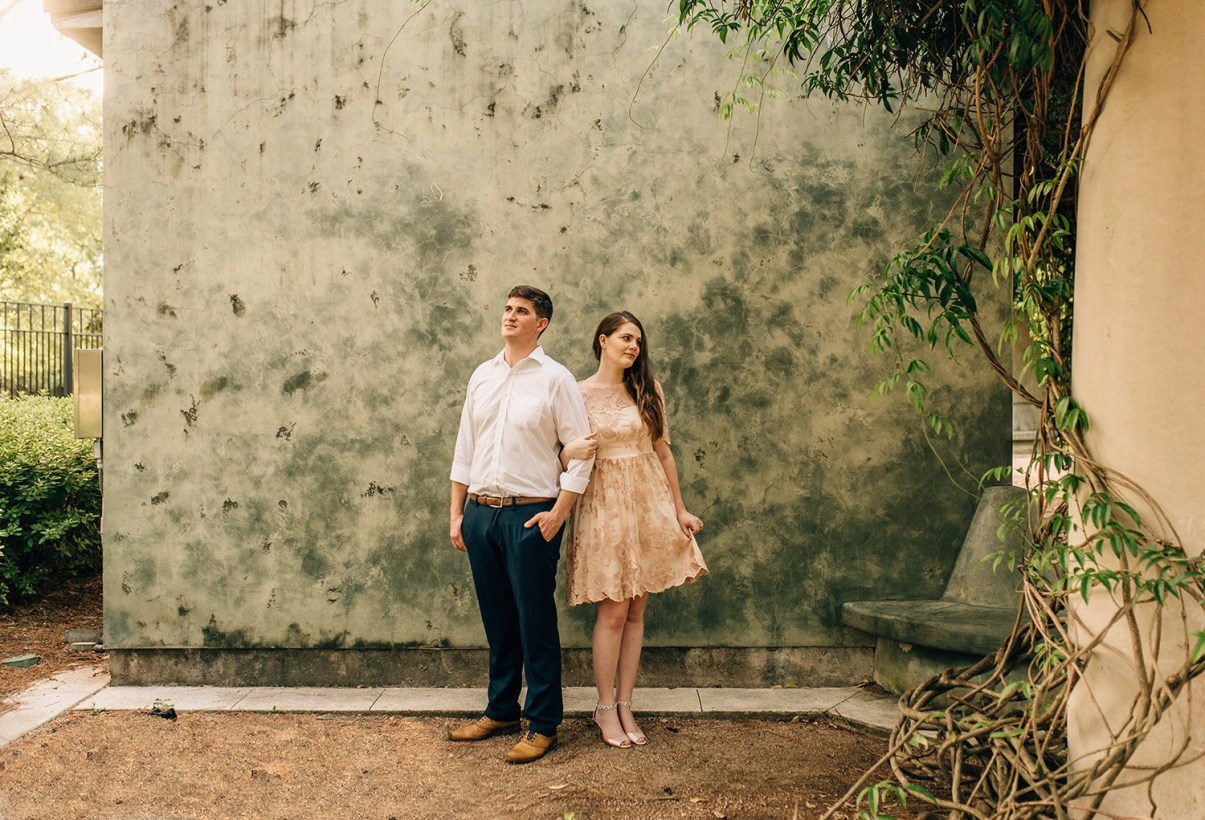 engagement picture at Hermann park