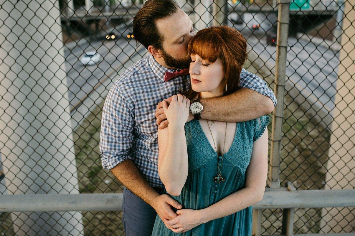 couple under an overpass
