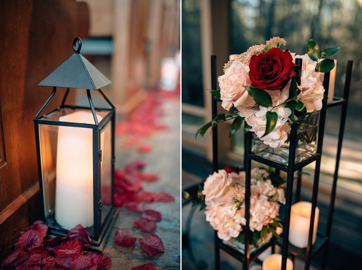 details in wedding at chapel in the woods