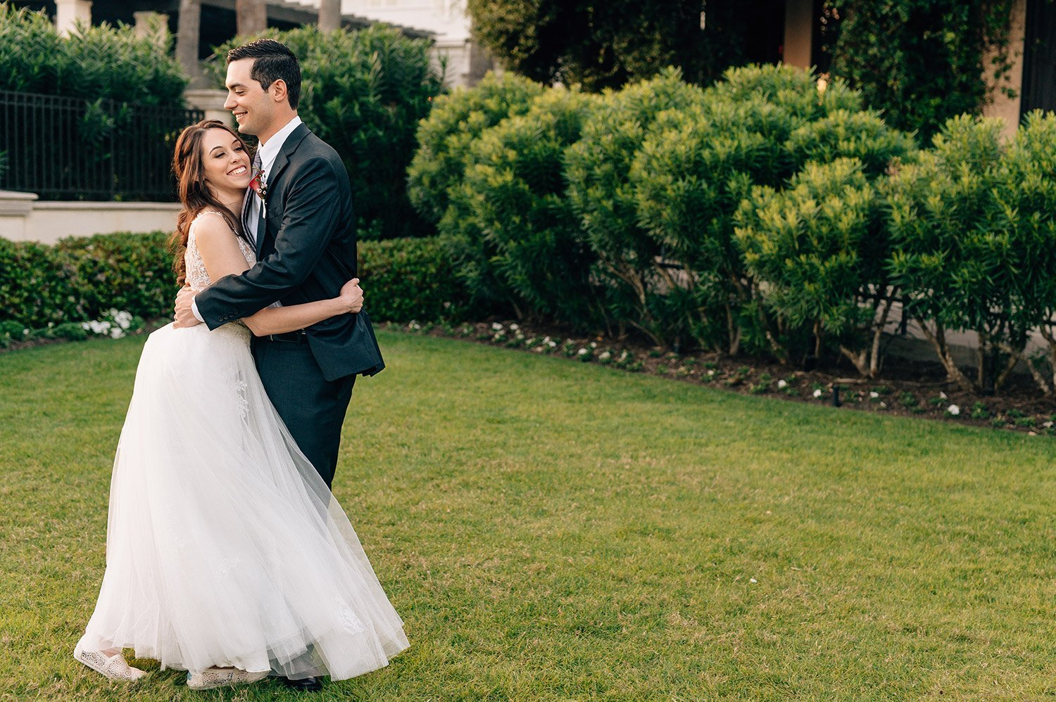 couple portraits at Hotel Galvez Wedding