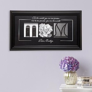 mom is our world print framed image