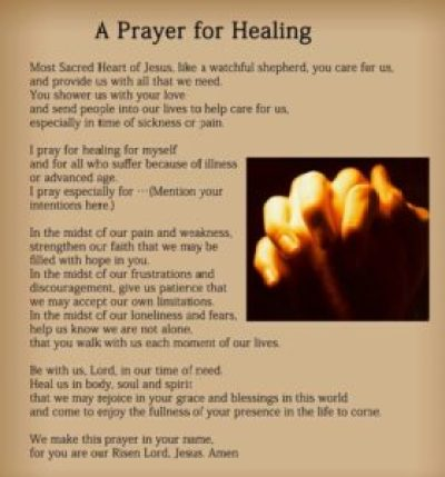 Powerful prayer for healing quotes