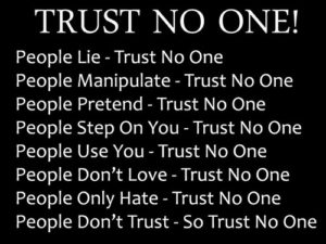 Trust no one quotes images
