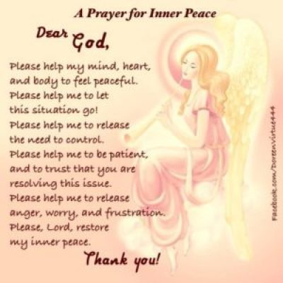prayer for healing quotes inner peace