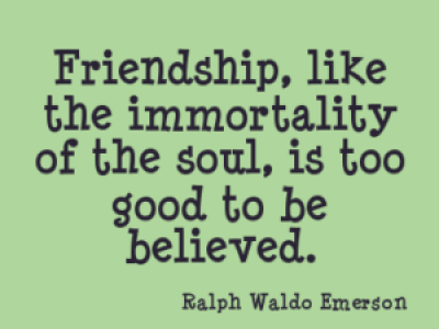 Ralph Waldo Emerson Quotes on Friendship