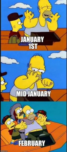 Humorous New Year's Resolution