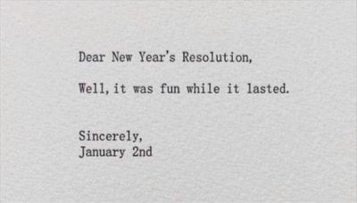 New Year's Resolution Funny Quotes