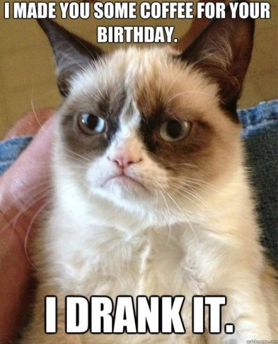 Funny Sayings Happy Birthday Coffee