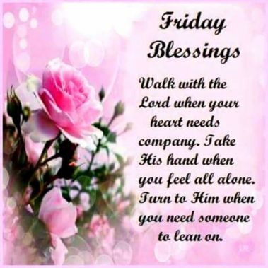 170+ Friday Blessings Images, Quotes, Pictures and GIF Photos