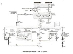 Ford Ranger wiring by color  19831991