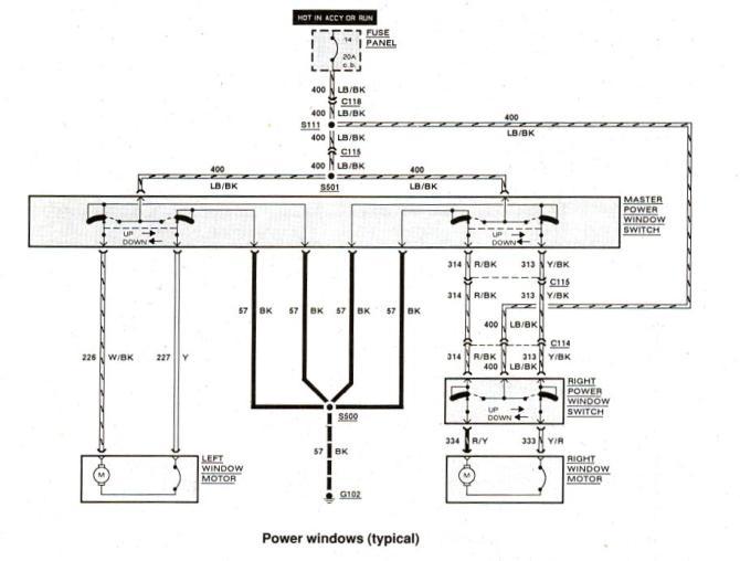 2000 ford explorer window switch wiring diagram  wiring