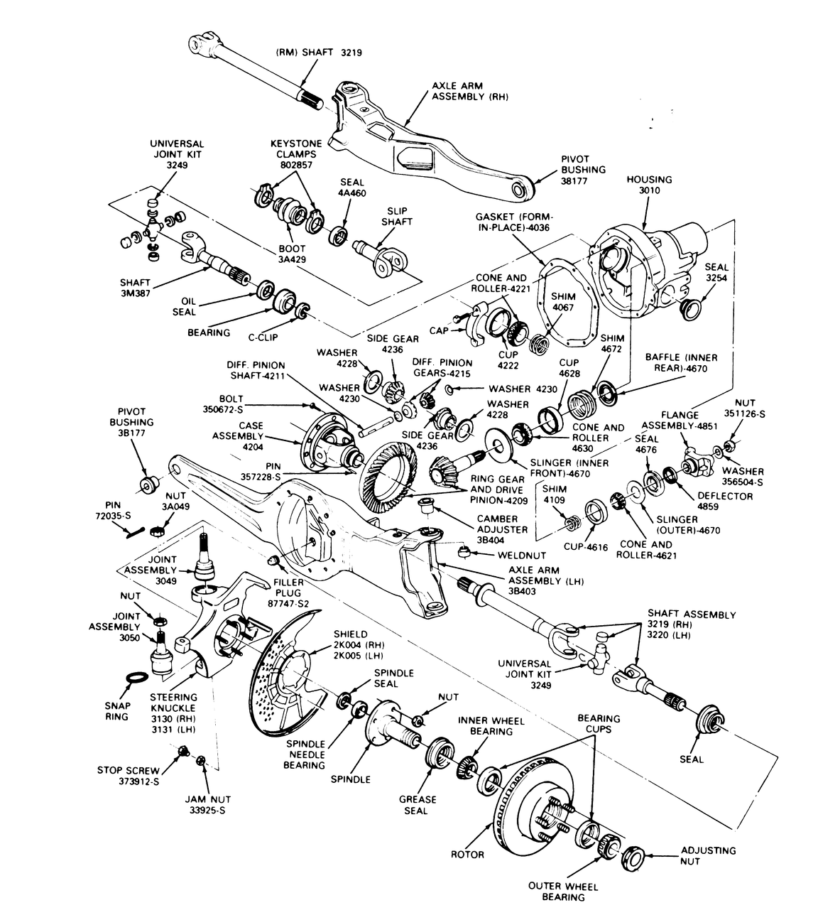 Ford F150 4x4 Front Axle Diagram