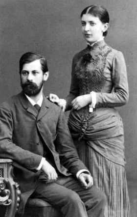 Sigmund Freud et Martha Bernays sa fiancée