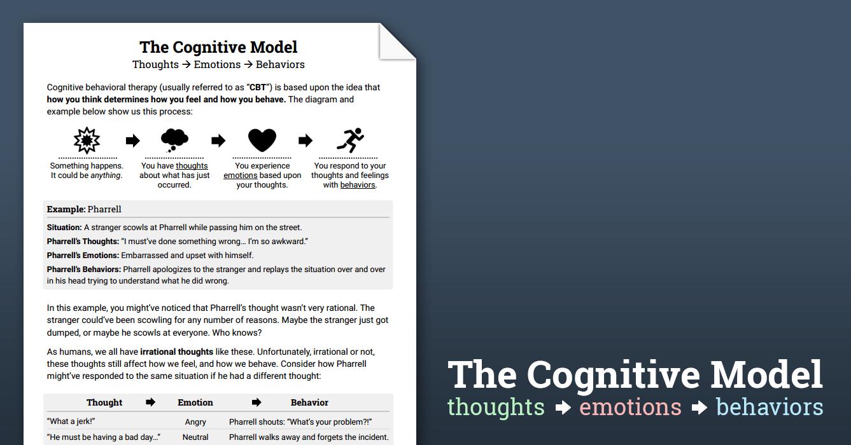 The Cbt Model Psychoeducation Worksheet