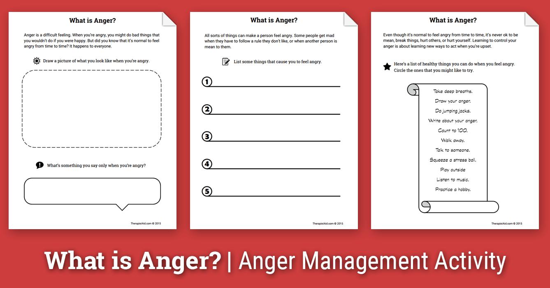Anger Activity For Children What Is Anger Worksheet