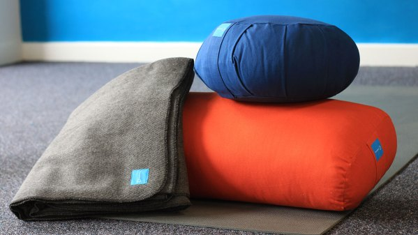 Meditation cushion, with yoga cushion and yoga blanket