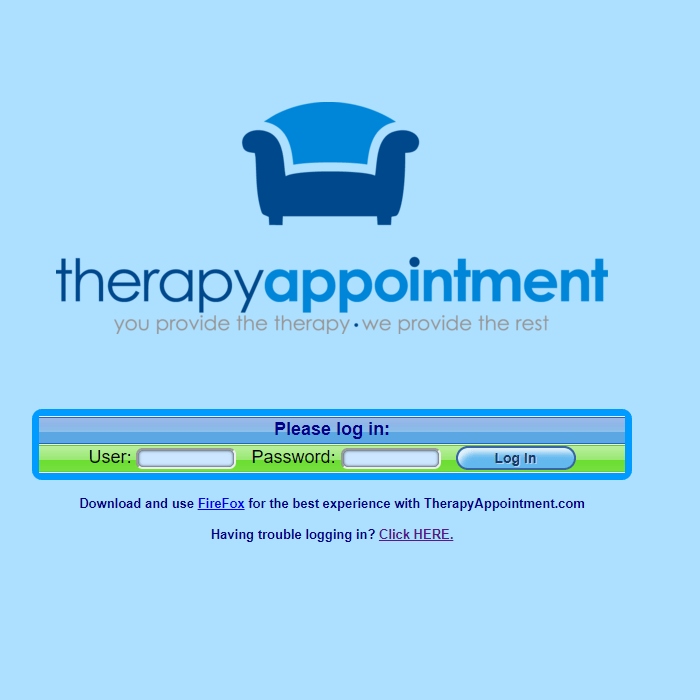 therapyappointment com therapist login