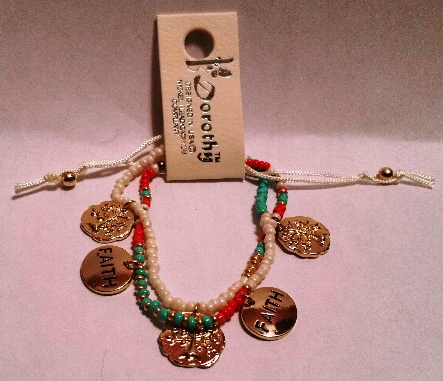 Faith Seed Bead Bracelet